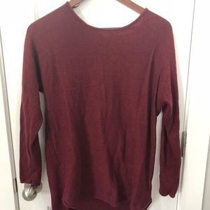 Michael Kors Red Tunic Sweater Size M